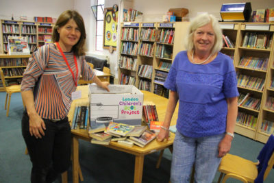 Book donations to the Children's Book Project
